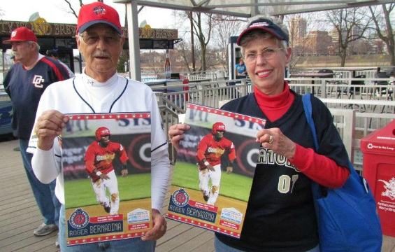Roger Bernadina poster giveawayPhoto courtesy Harrisburg Senators
