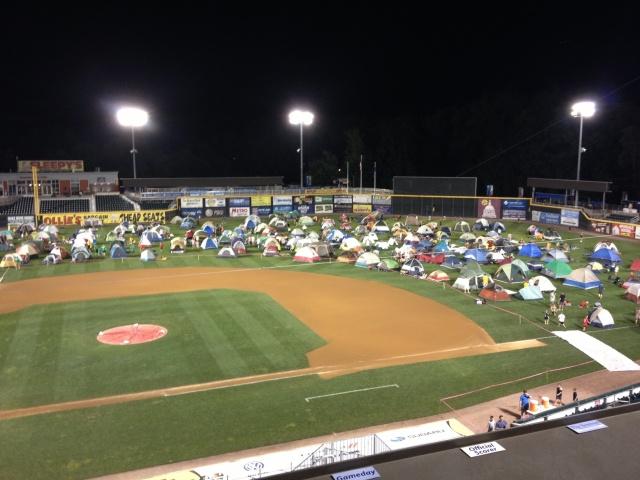 Harrisburg Senators scout sleepover