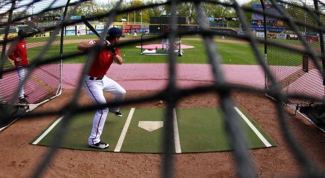 Senators batting practice