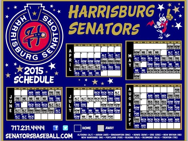 2015 Senators schedule