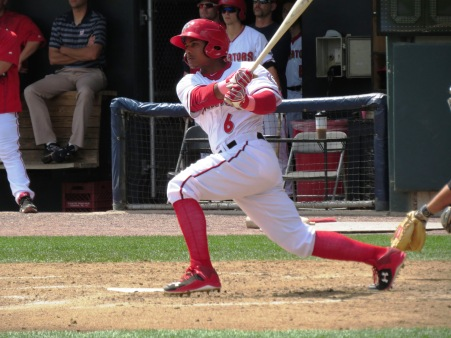 Wilmer Difo will bring his speed and aggressive approach at the plate back to Harrisburg in 2016.